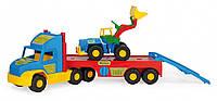 Игрушечный эвакуатор Wader Super Truck с трактором (36520)