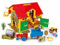 Детский домик-ферма Wader с техникой и животными (25450)