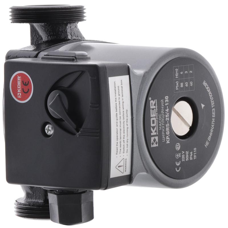 Насос циркуляційний відцентро. KOER KP.GRS-25 / 4-130 (з кабелем і вилкою) (KP0250)