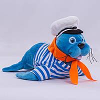 Мягкая игрушка морской лев, 30 см.