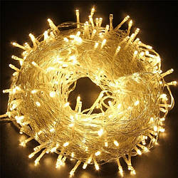 Гирлянда Mine светодиодная 25 м на 500 LED, прозрачный шнур, Желтый 125410 ES, КОД: 2449594