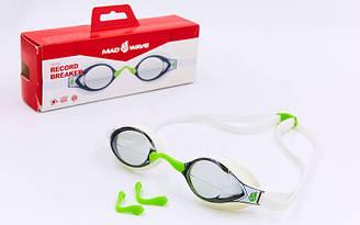 Очки для плавания стартовые planeta-sport MadWave RECORD BREAKER M045401 Белый ES, КОД: 2351391