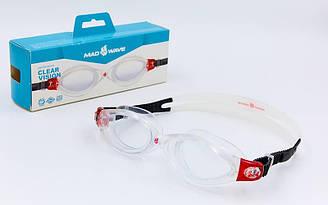 Очки для плавания planeta-sport MadWave CLEAR VISION M043106 Красный ES, КОД: 2354454