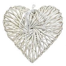 """Декор из лозы """"Плетёное сердце"""" 43*35 см"""