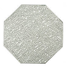 "Сервировочная салфетка ""Многогранник"" серебро"