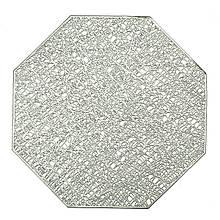 """Сервірувальна серветка """"Багатогранник"""" срібло"""