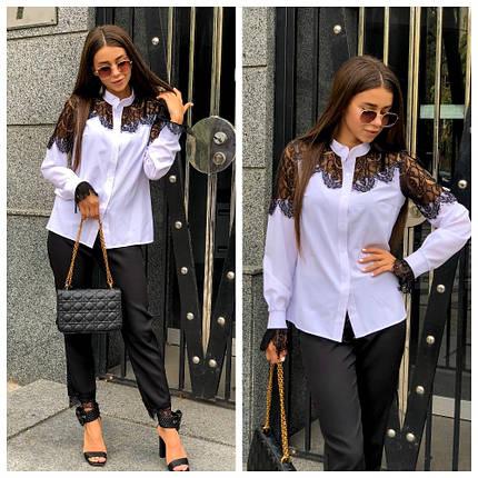 Белая рубашка женская, фото 2