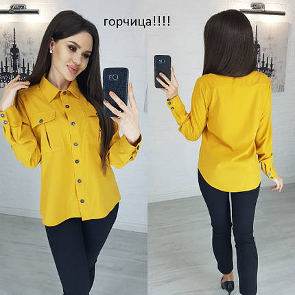 Рубашка женская с манжетом, фото 2
