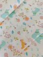 Сатин (бавовняна тканина) м'ятні ведмедики в кольорах, фото 2
