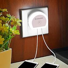 Alfawise HTV-777 ночник с датчиком освещения + 2 USB зарядки