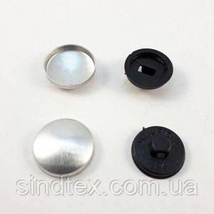 Ґудзик під обтяжку на пластиковій ніжці №24 - 14,3 мм Чорна (СТРОНГ-0156)