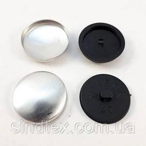 Ґудзик під обтяжку на пластиковій ніжці №40 - 24,3 мм Чорна (СТРОНГ-0166)