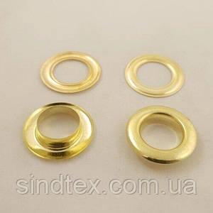 Люверс (Блочки) №4 D6мм 5000шт Золото (СТРОНГ-0293)