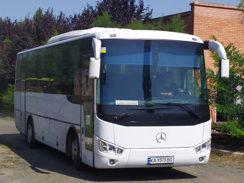 Производство и замена лобового стекла триплекс на автобусе Otokar Doruk 190s в Никополе (Украина).