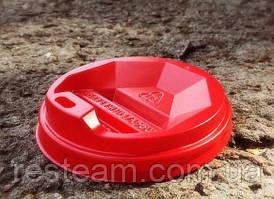 Кришка до стаканчику ромб 89 червона DB350-450