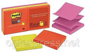3М Post-It  Super Sticky Z-образні стікери R330 76х76 мм  6 блоків по 90л різнокольорові