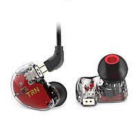 Проводные гибридные HiFi наушники TRN V30 c микрофоном Carbon