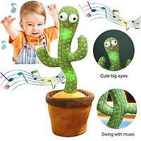 Танцюючий кактус повторює звуки 60 мелодій М'яка іграшка кактус у горщику Музичний Кактус у вазоні