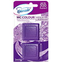 Таблетка для бачка унитаза Kolorado WC Colour фиолетовый, 2 шт