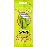 Набір одноразових станків для гоління BiC Pure 3 Lady, 4 шт