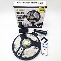 Фонарь уличный светильник аккумуляторный 3000mA с пультом на солнечной батарее 120 LED и COB Solar Sensor