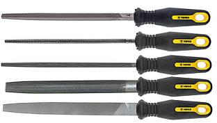 Topex Напилок по металу 200/2 мм, набір 5 шт