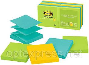 3М Post-It Z-образні стікери R330 76х76 мм  12 блоків по 100л різнокольорові