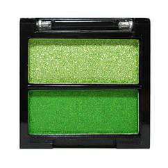 Тіні для Повік Meis MS 0202 Двоколірні Салатові і Зелені Атласні Компактні Тон 06, Косметика, Макіяж