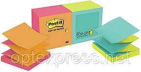 3М Post-It Z-образні двокольорові стікери 76х76 мм 12 блоків по 100 л