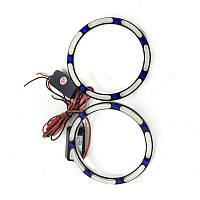 Ангельські оченята LED 3D 80 мм COTTON White/Blue (Білий/Синій)