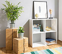 Стеллаж для книг и декора на 4 ячейки, книжная полка, полка для книг в гостиную спальню офис Opendoors