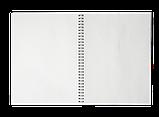 Зошит для нотаток BARK, А4, 60 арк.,клітинка, пластикова обкладинка, малиновий, фото 2