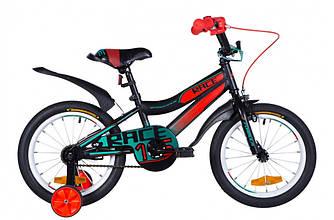 """Велосипед 16"""" FORMULA RACE 2021 (черно-оранжевый с бирюзовым 9"""")"""