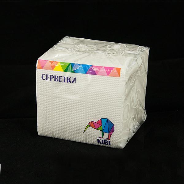 Салфетка белая 24*24 1-слой 100 шт/пач