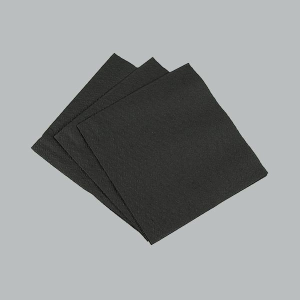 Барні чорні серветки 24*24, 300 шт/пач