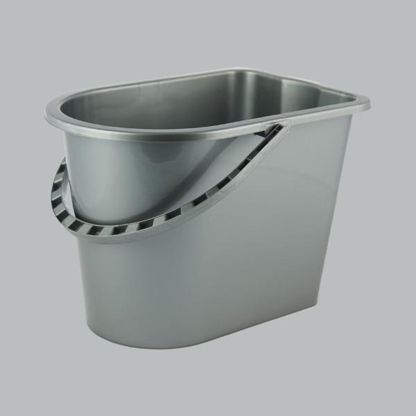 Ведро МОП 14 прямоугольное металлик