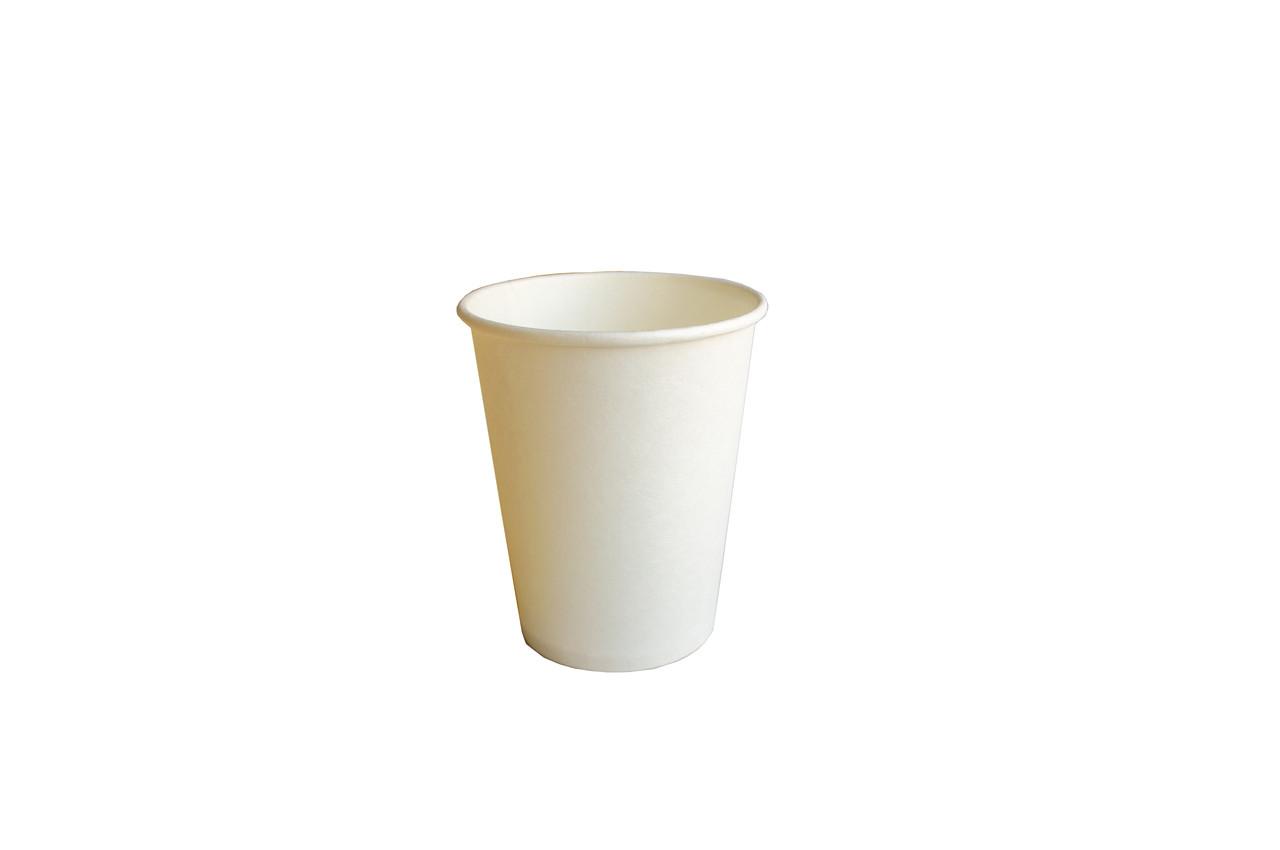 Стакан Е 250 мл бумажный 50 шт/уп белый