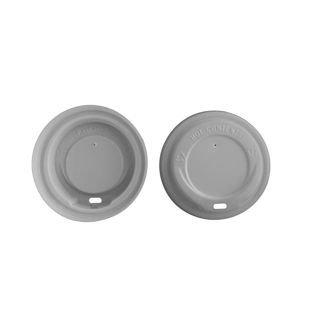 Крышка пластик д/бум.стакана КР90  (50 шт) белая