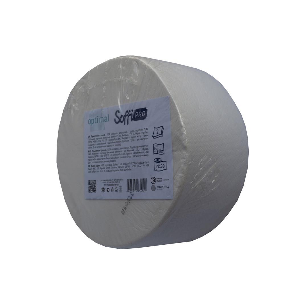 Туалетная бумага SoffiPRO 2-слоя (130м) D-190