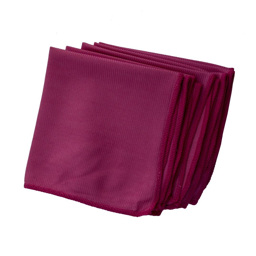 Салфетка микрофибра д/стекла/зеркал розовая 5 шт