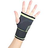 Еластичний бинт на руку високоеластичний бандаж для фітнесу пов'язка на зап'ясті бандаж для занять в тренажерному залі, фото 2