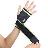 Еластичний бинт на руку високоеластичний бандаж для фітнесу пов'язка на зап'ясті бандаж для занять в тренажерному залі, фото 5