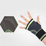 Еластичний бинт на руку високоеластичний бандаж для фітнесу пов'язка на зап'ясті бандаж для занять в тренажерному залі, фото 7