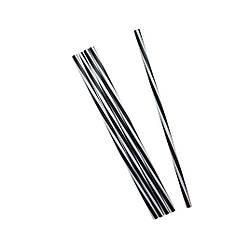 Трубочки Винтовые Фреш чёрно-белые 25 см 500 шт