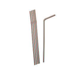Трубочки гофрированные полосатые 21 см, d=5 мм, 200 шт