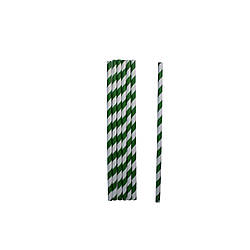 Трубочки бумажные зелёные 19,5 см 25 шт