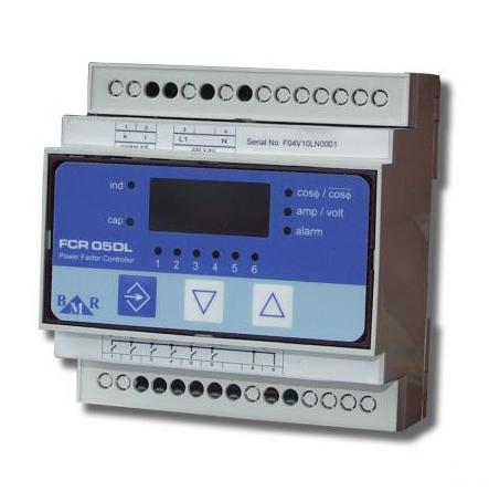 Контролер реактивної потужності серії FCR05DL, 6 релейних виходів, 1ф, 400В, монтаж на Din-рейку BMR (Чехія), фото 2