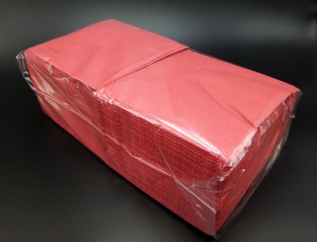 Серветки 33*33 2 шари червоні 200 шт