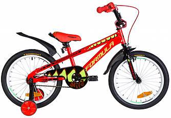 """Велосипед 18"""" FORMULA WILD 2021 (червоно-чорний з салатовим 9"""")"""