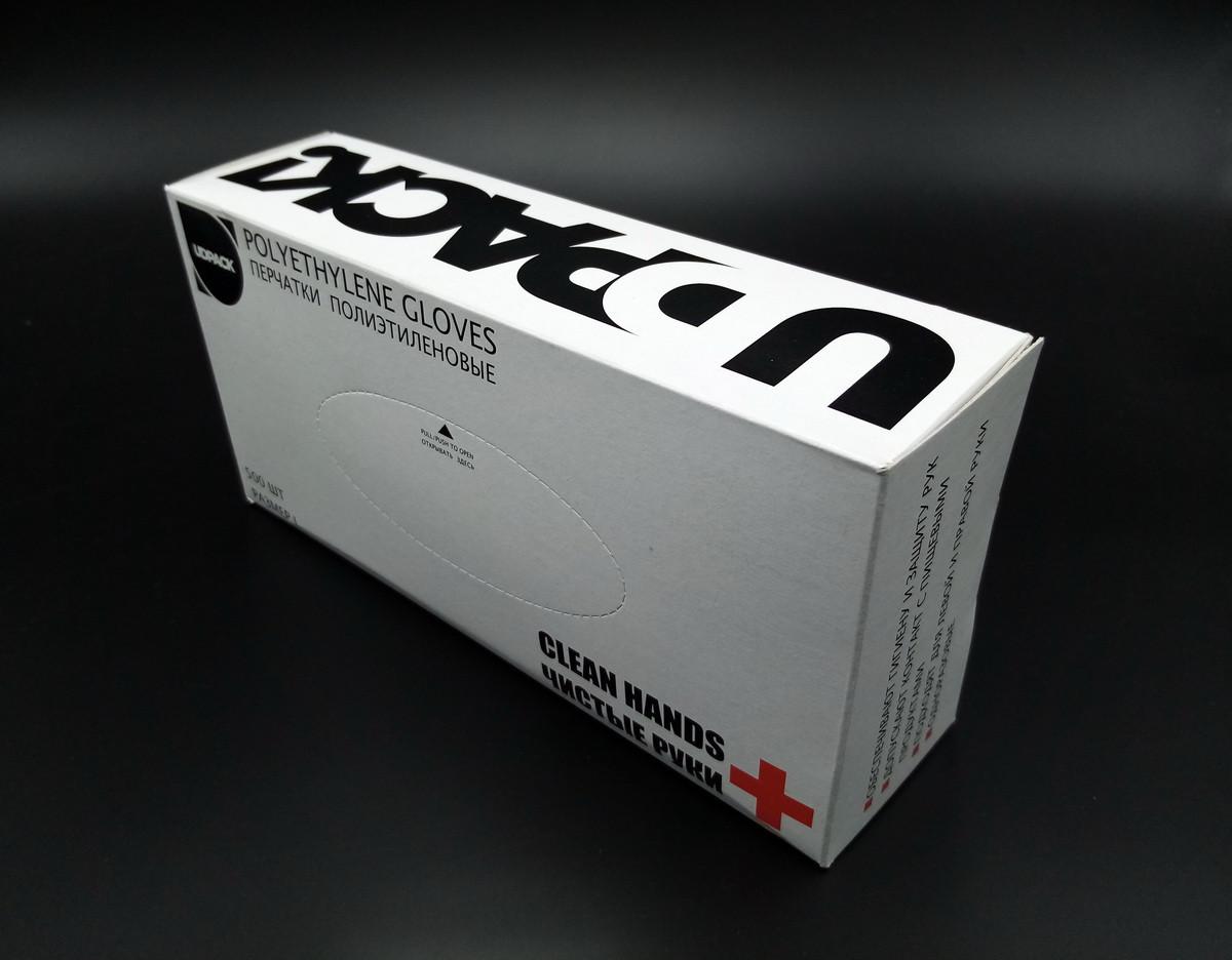 Перчатки полиэтиленовые 500 шт в карт. уп.